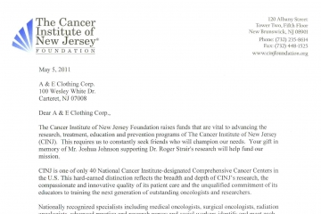The Cancer Institute of New Jersey, May 2011