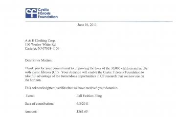 Cystic Fibrosis Foundation, June 2011